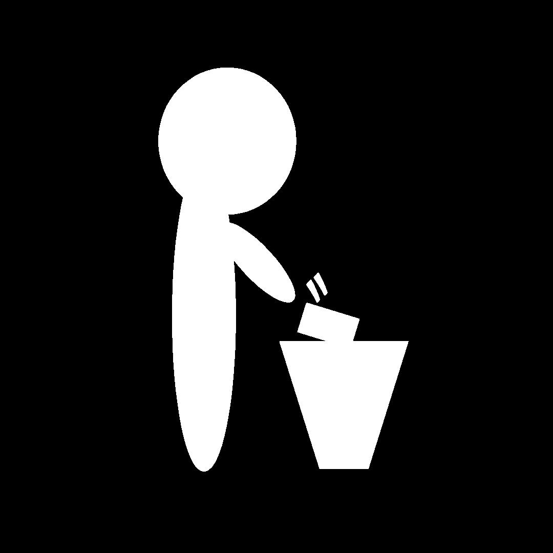 ゴミ箱に捨てる人のイラスト計14カラー | はる蔵ブログ