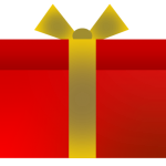 プレゼントボックス・箱のイラスト2種類全4カラー