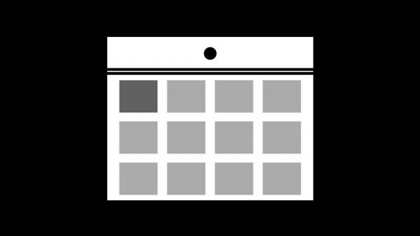カレンダーアイコン白
