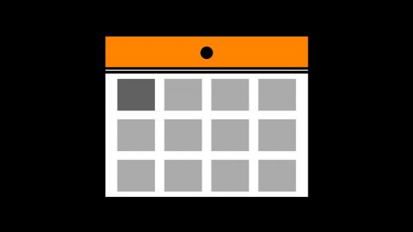 カレンダーアイコンオレンジ