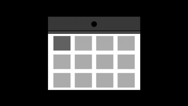 カレンダーアイコングレー