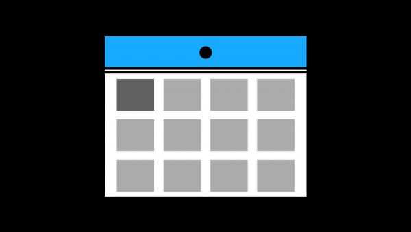 カレンダーアイコン水色