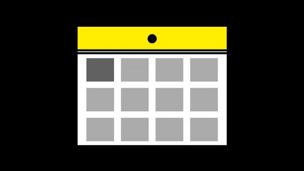 カレンダーアイコン黄色