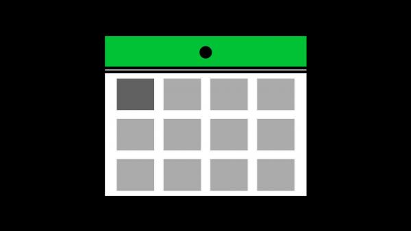 カレンダーアイコン緑