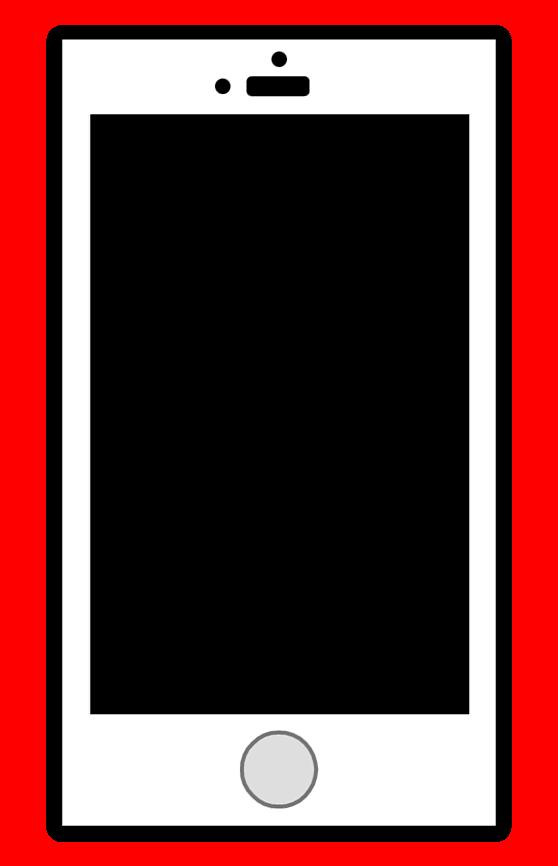 スマートフォンイラスト黒