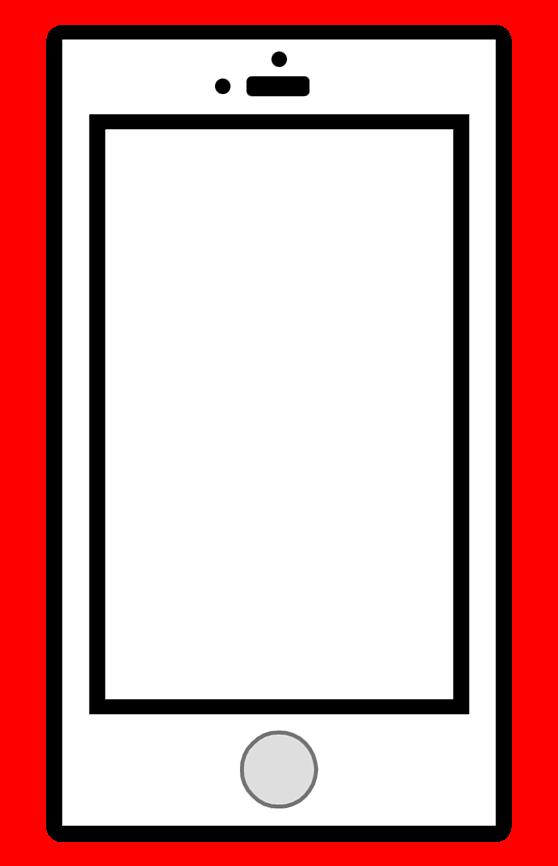 スマートフォンイラスト白