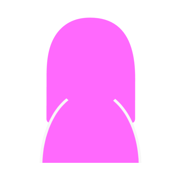 女性シルエットのユーザーアイコン 薄紫