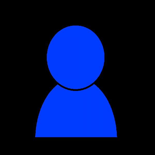 男性シルエットのユーザーアイコン ブルー