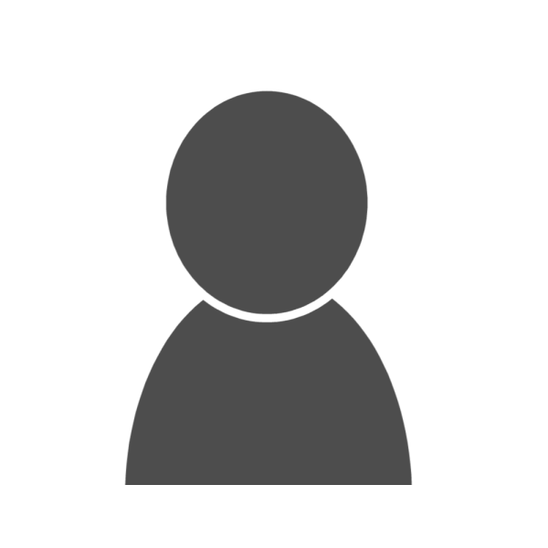 男性シルエットのユーザーアイコン 濃いグレー