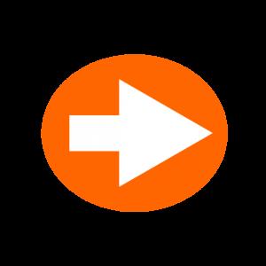 楕円形矢印アイコン1種類目オレンジ