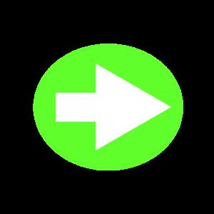 楕円形矢印アイコン1種類目黄緑