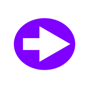 楕円形矢印アイコン1種類目紫