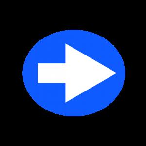 楕円形矢印アイコン1種類目青