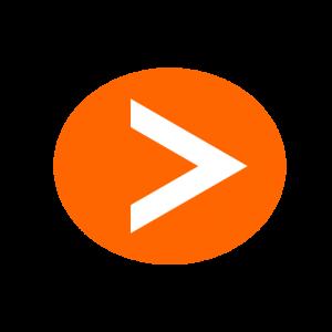 楕円形矢印アイコン2種類目オレンジ