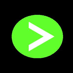楕円形矢印アイコン2種類目黄緑
