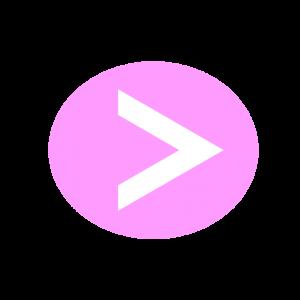 楕円形矢印アイコン2種類目ピンク