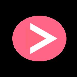 楕円形矢印アイコン2種類目濃いピンク