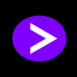 楕円形矢印アイコン2種類目紫
