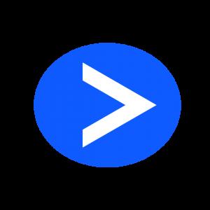 楕円形矢印アイコン2種類目青