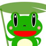 カエルのイラスト2種類+ミニカエルアイコン