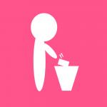 ゴミ箱に捨てる人のイラスト計14カラー